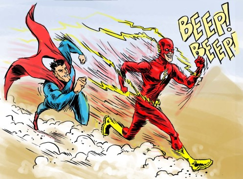 FLASH_vs_Superman_by_azharmaa